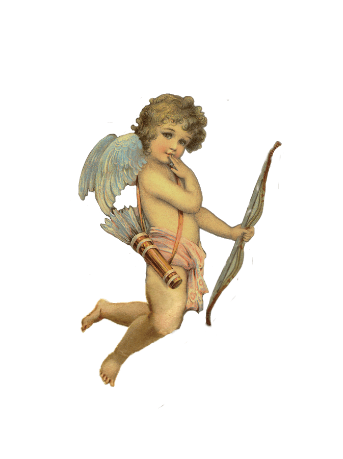 Cherub Angel #1  HEAT STICKER DECALS FOR FABRIC , SHOES, PLASTIC