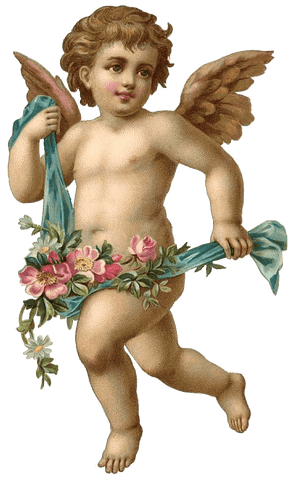 Cherub Angel #2  HEAT STICKER DECALS FOR FABRIC , SHOES, PLASTIC