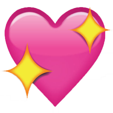 HEART EMOJI   HEAT STICKER DECALS FOR FABRIC , SHOES, PLASTIC