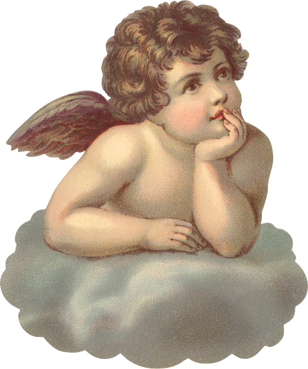 Cherub Angel #3  HEAT STICKER DECALS FOR FABRIC , SHOES, PLASTIC