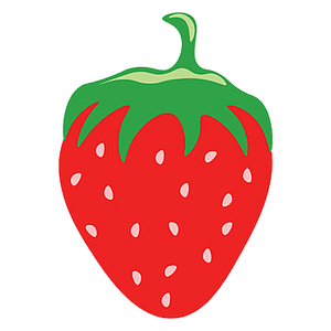 STRAWBERRY HEAT STICKER DECALS FOR FABRIC , SHOES, PLASTIC