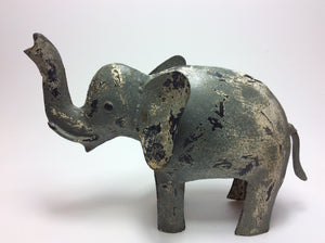 Metall Elefant groß shabby look