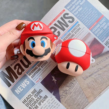 Load image into Gallery viewer, Mario & Mushroom Airpod Cases