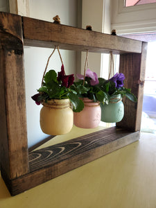 Hanging Mason Jar Planter