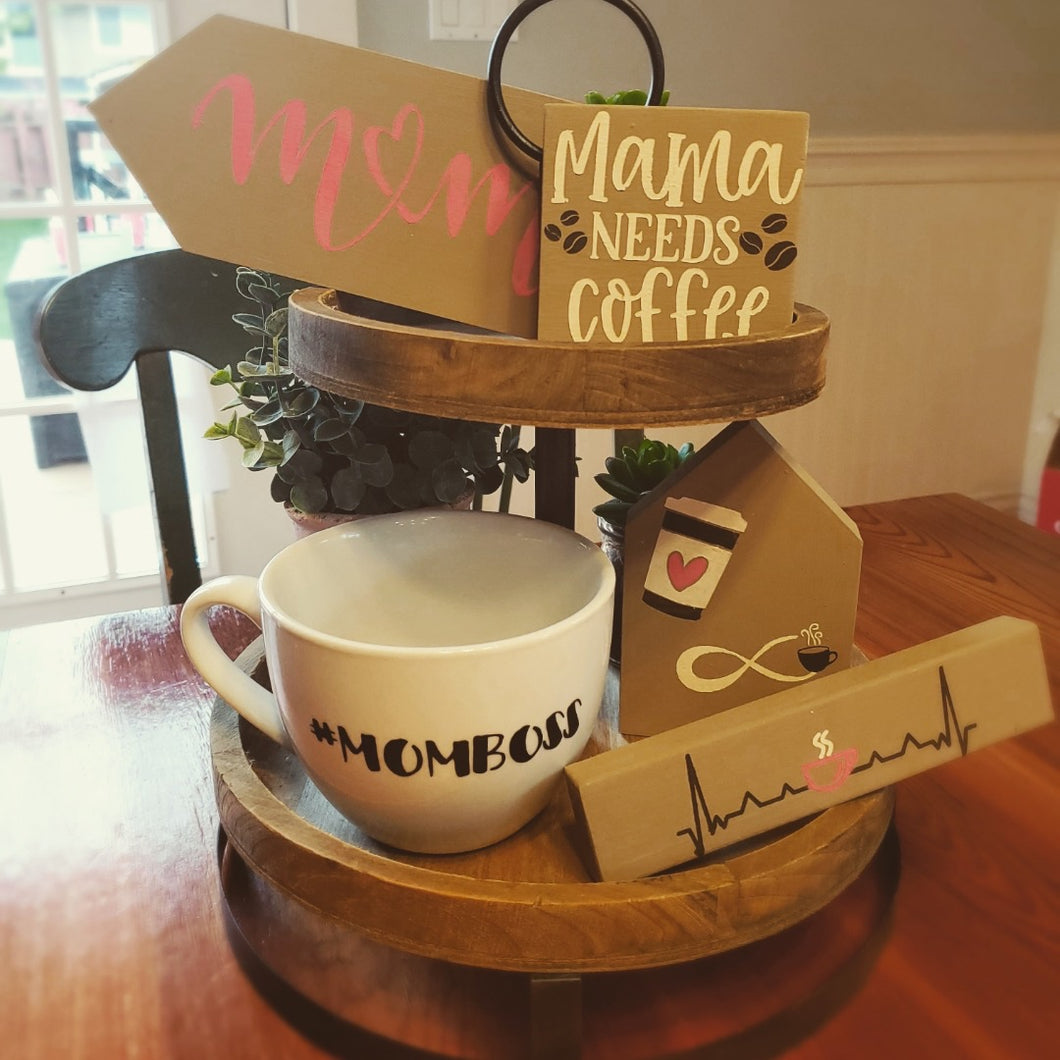 DIY Mama Decorative Tray