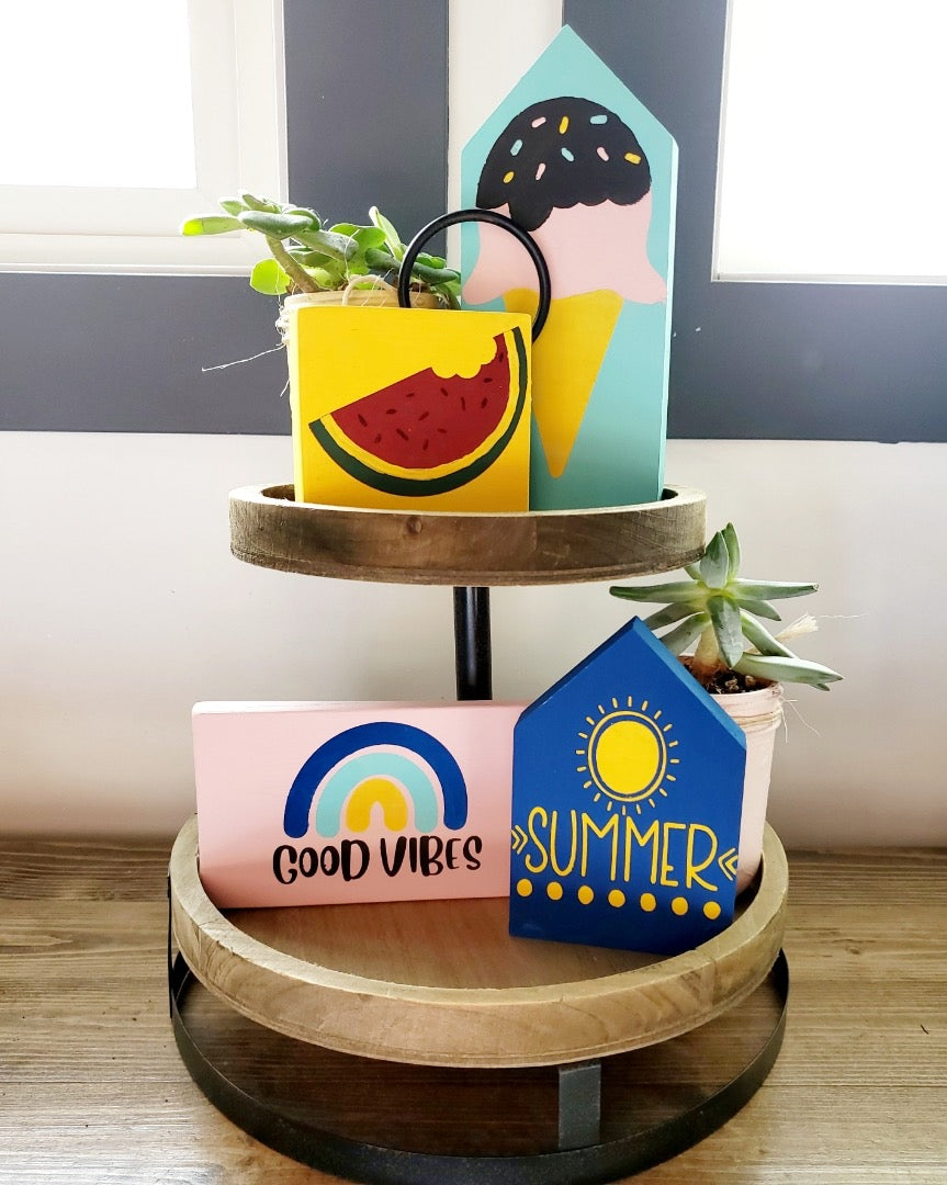 DIY Summer Decorative Tray