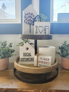 DIY Social Distancing Decorative Tray