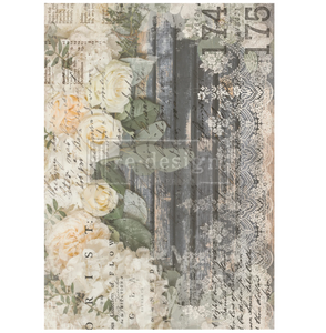Redesign Decor Transfers - White Fleur