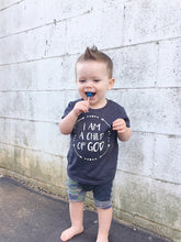 Load image into Gallery viewer, Child of God Kids Tee (Gray, Charcoal)