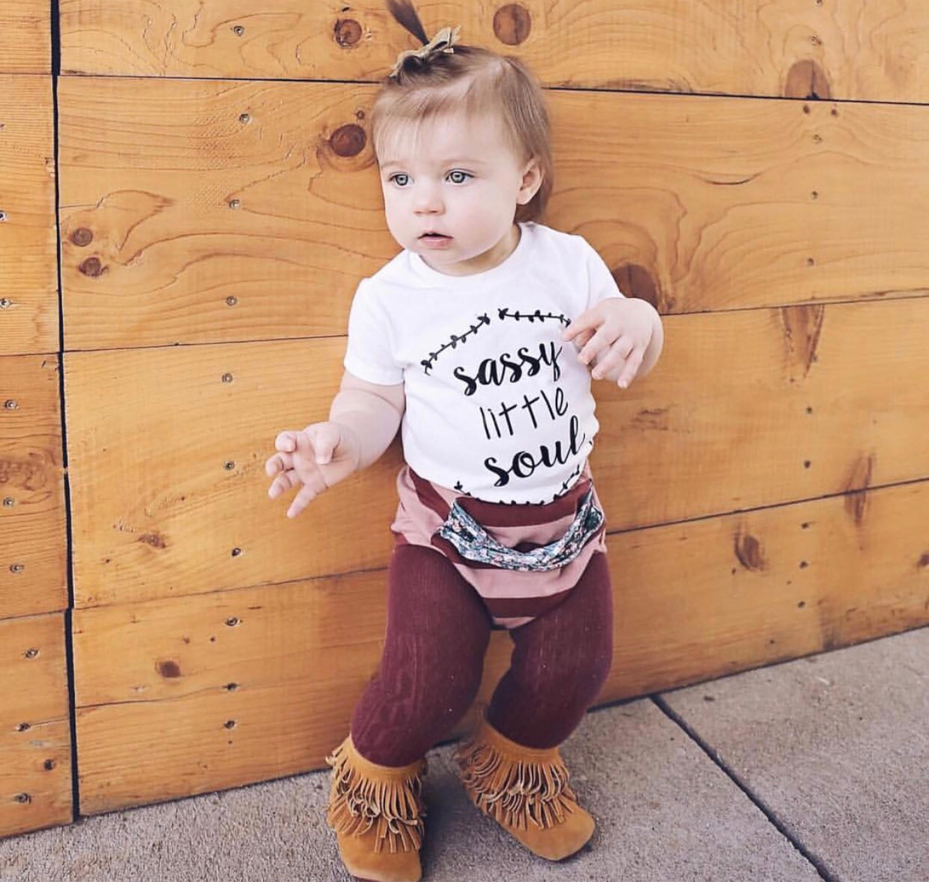 Sassy Little Soul Kids Tee (Pink, White)