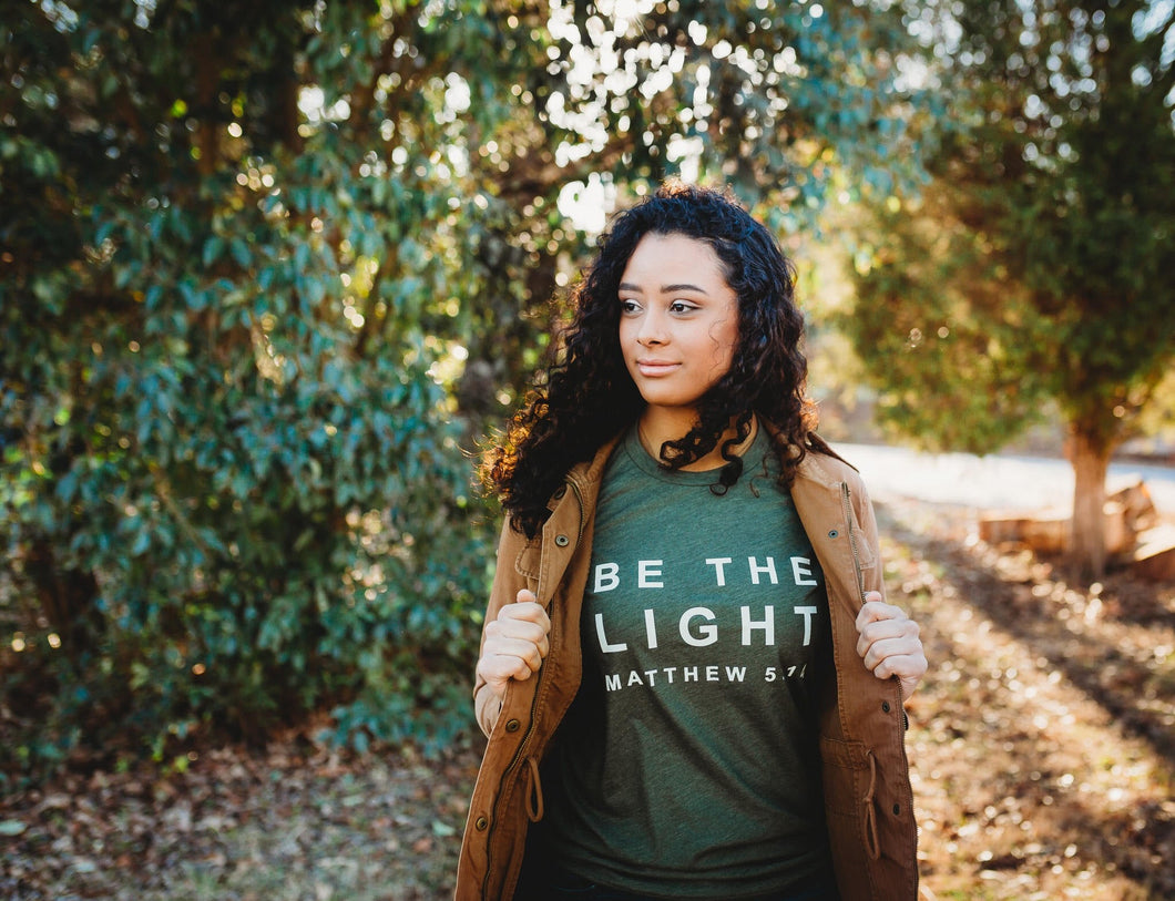 Be The Light Military Green Tee