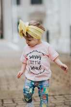 Load image into Gallery viewer, Sassy Little Soul Kids Tee (Pink, White)