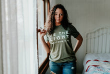 Load image into Gallery viewer, Be The Light Military Green Tee