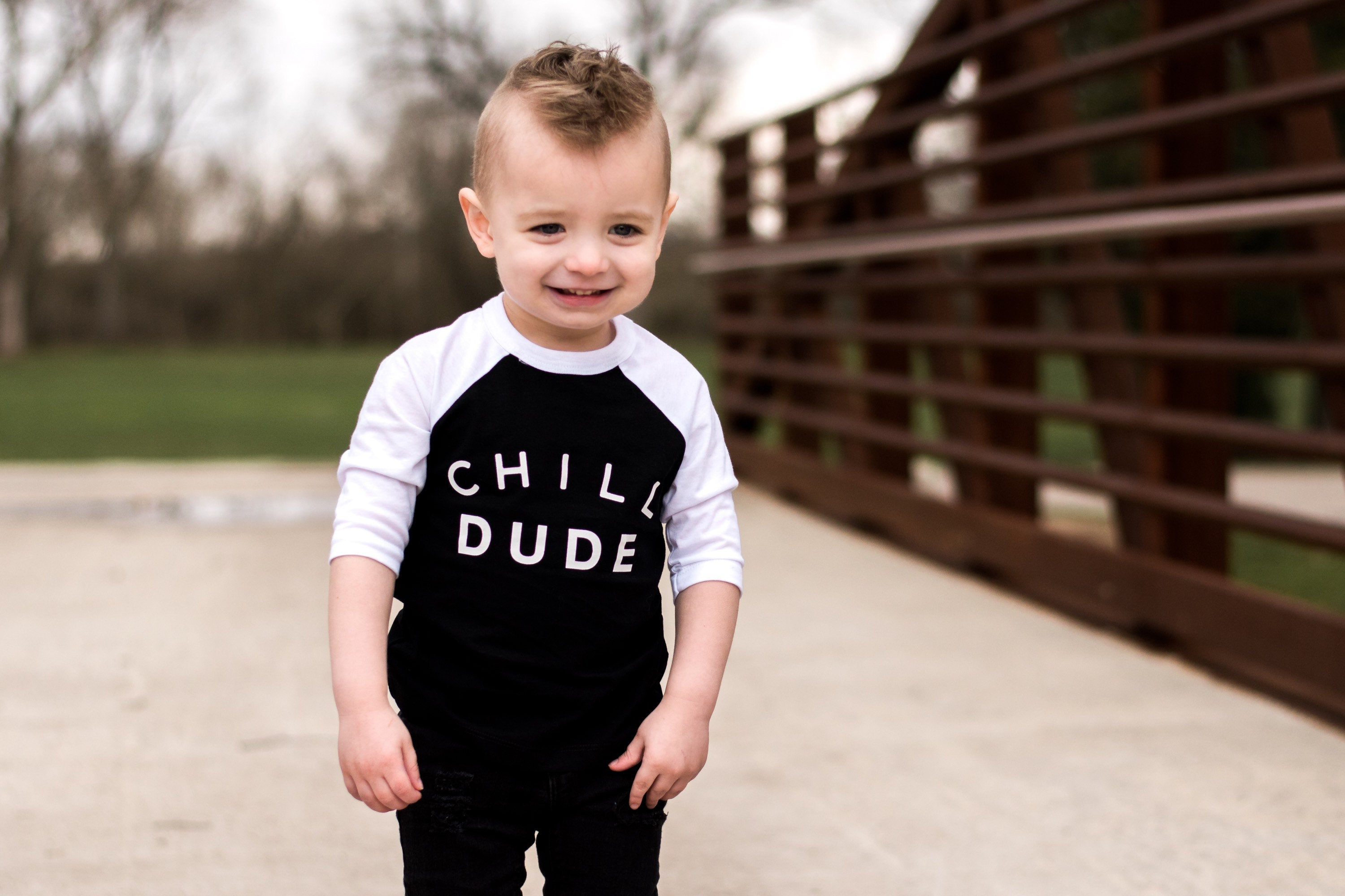 Chill Dude Kids Raglan Tee