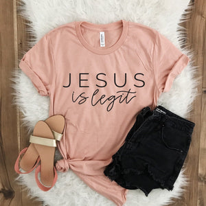 Jesus Is Legit Peach Tee