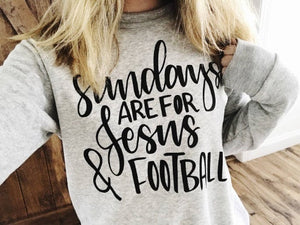 Sundays are for Jesus and Football Oatmeal Sweatshirt