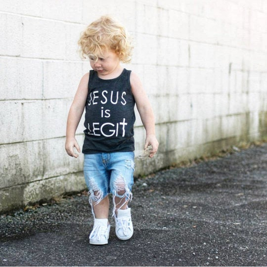 Jesus is Legit Kids Tank