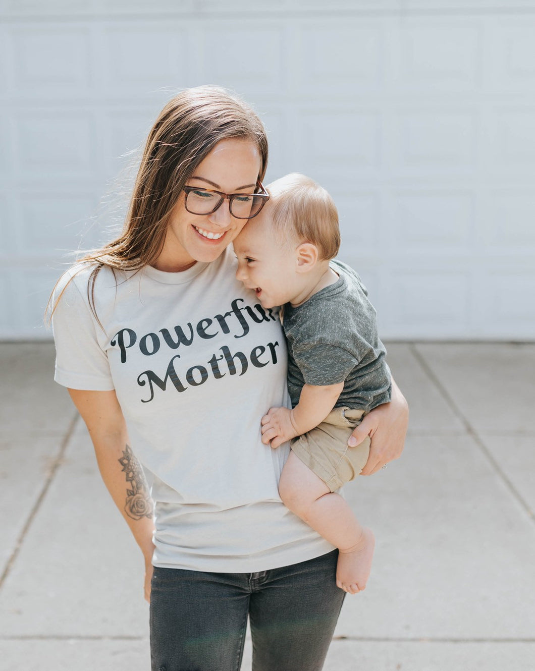 Powerful Mother Heather Dust Tee