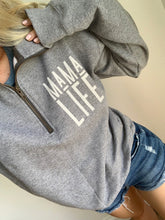 Load image into Gallery viewer, MAMA LIFE Graphite Quarter Zip