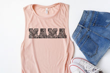 Load image into Gallery viewer, MAMA Floral Peach Tank