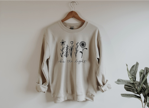 Floral Be The Light Sand Sweatshirt