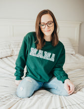 Load image into Gallery viewer, MAMA Floral Forest Green Sweatshirt