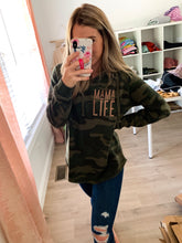 Load image into Gallery viewer, Rose Gold MAMA LIFE Camo Hoodie