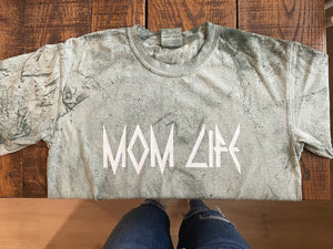 MOM LIFE Rocker Green Dye Shirt **NO CODES ALLOWED**