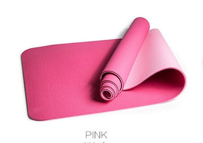JUFIT 1830*610*6MM TPE Yoga Mat Double Sided Color Exercise Sports Mats For Fitness Gym Environmental Tasteless Pad