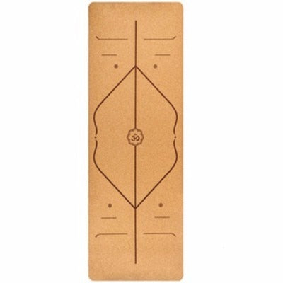 5MM Natural Cork Yoga Mat Odorless TPE Fitness Gym Sports Mats Pilates Exercise Pads Non-slip Yoga mats Absorb Sweat 183X68cm