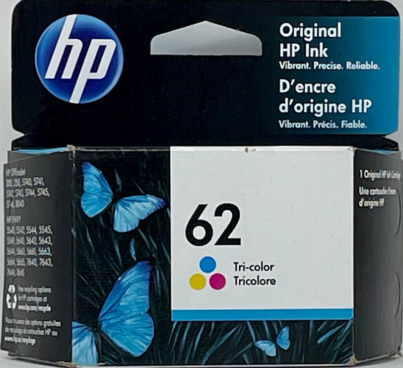 Genuine HP® 62 Tricolor Ink Cartridge (C2P06AN