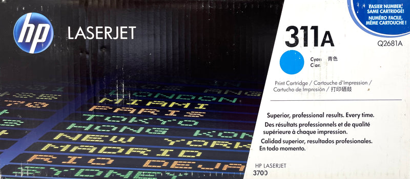 Genuine HP® 311A Cyan Q2681A LaserJet Toner Cartridge