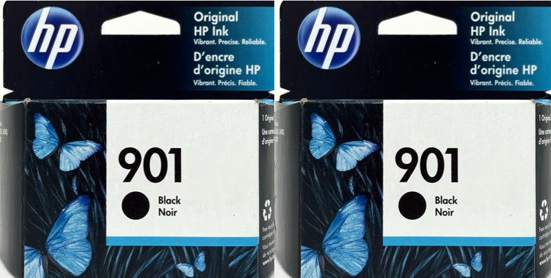 Genuine HP® 901 Black Ink Cartridges, Standard, 2/Pack (CZ075FN
