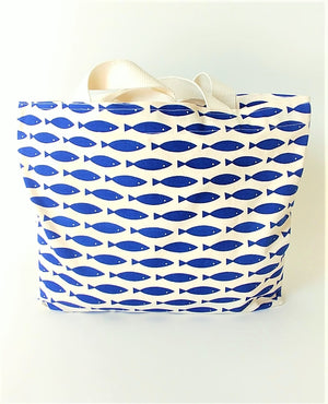 Healthy Principle Eco-Friendly Tote Bag - Blue Fish