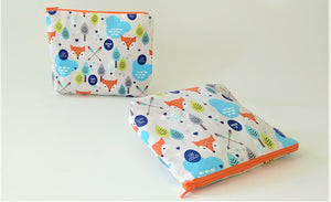 Healthy Principle Multi-Use Pouch with Waterproof Lining - Cute Fox