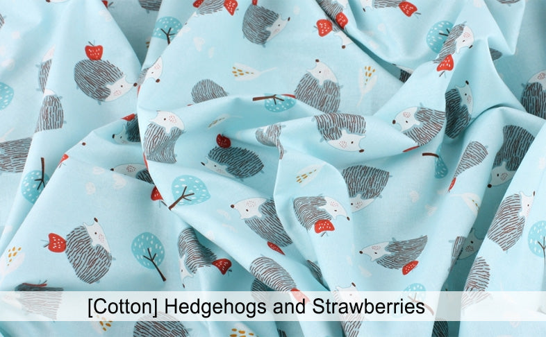Mysgreen Beeswax Food Wrap Set - Hedgehogs & Strawberries