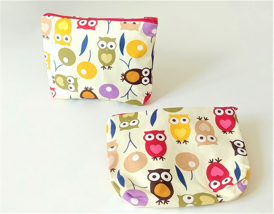 Healthy Principle Multi-Use Pouch with Waterproof Lining - Owl