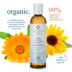 SHOOSHA® Organic Calm Baby Calendula Oil – Unscented