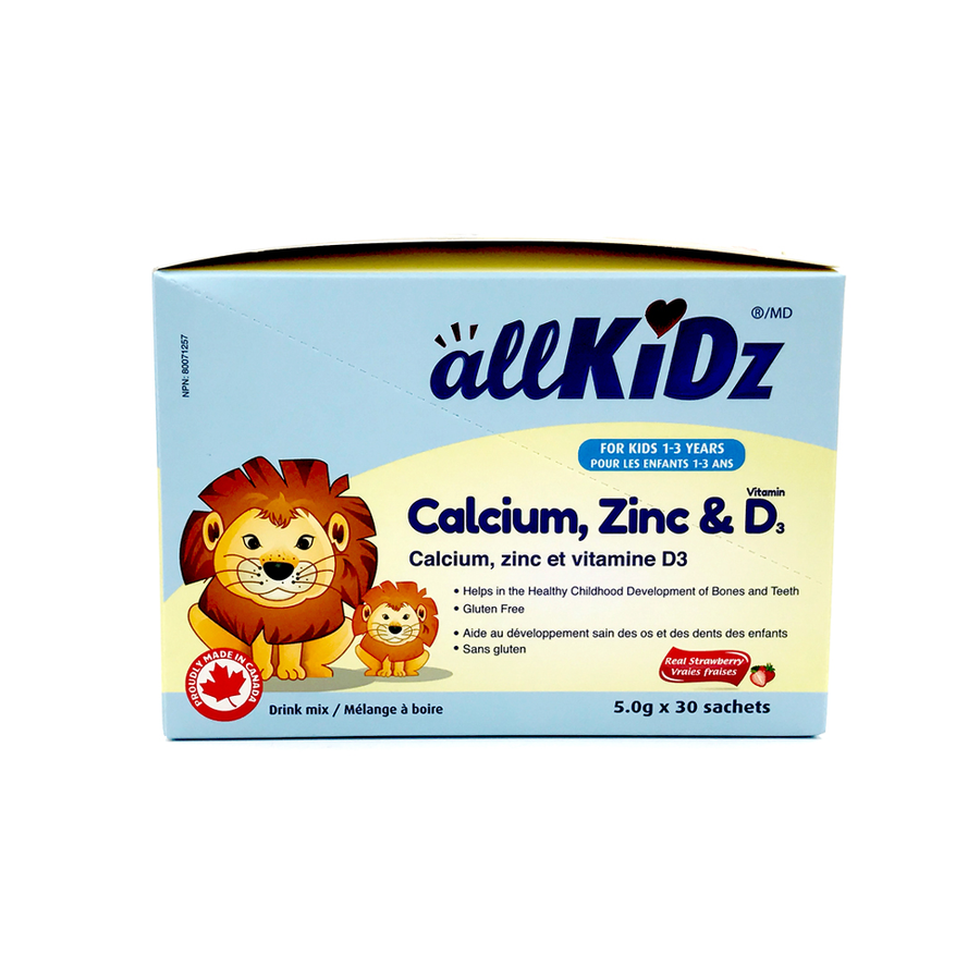 AllKiDz® Calcium, Zinc & Vitamin D3 (Drink Mix)