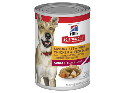 Hills Science Diet Dog Adult Chicken & Vegetables Chunks Can