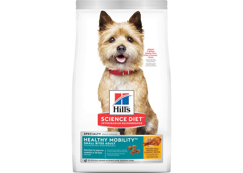 Hills Science Diet Dog Adult Healthy Mobility Small Bites Chicken Meal, Barley & Brown Rice