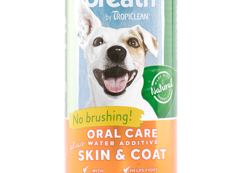 Tropiclean Fresh Breath Water Additive Plus Skin & Coat