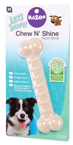 Kazoo Chew N Shine Nylon Bone Chicken