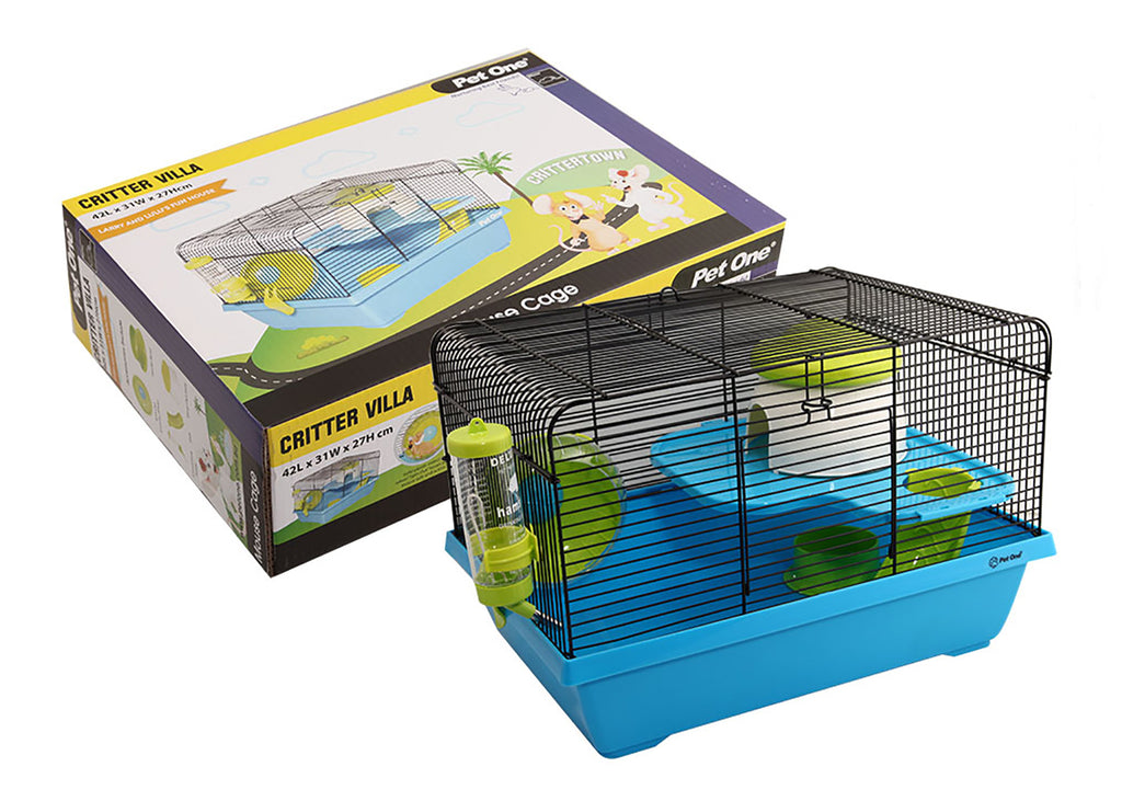 Pet One Critter Villa Mouse Wire Cage
