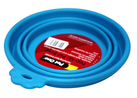 Pet One Round Silicone Travel Bowl