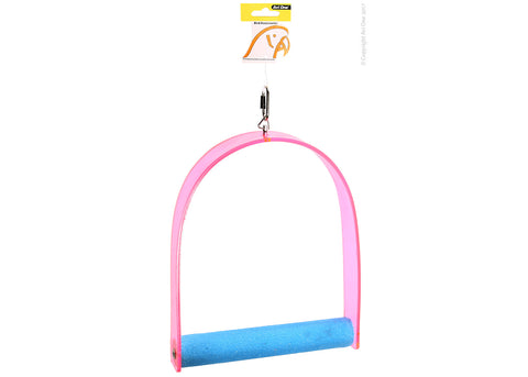 Avi One Parrot Swing Acrylic With Perch 24cm x 32cm