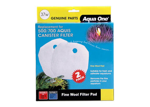 Aqua One Wool Pad 2 pack 37w for Aquis 500/700