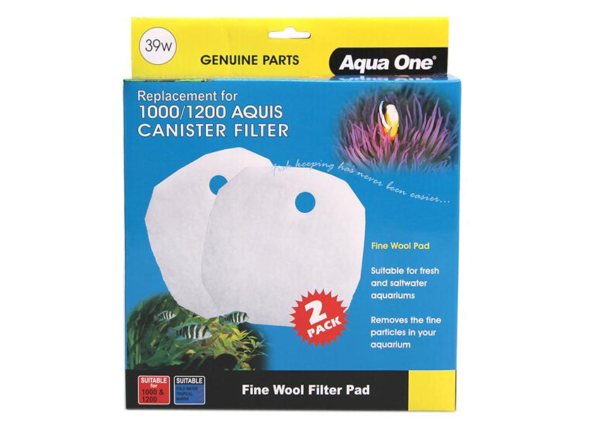 Aqua One Wool Pad 2 pack 39w for Aquis 1000/1200