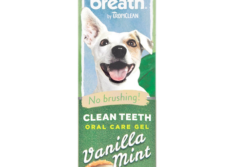 Tropiclean Fresh Breath Vanilla Mint Teeth Gel