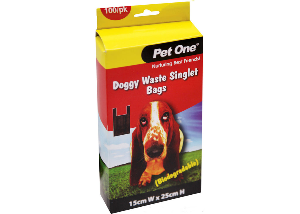 Pet One Doggy Waste Singlet Bags